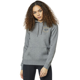 Fox Flutter Fleece Pullover Women, heather graphite